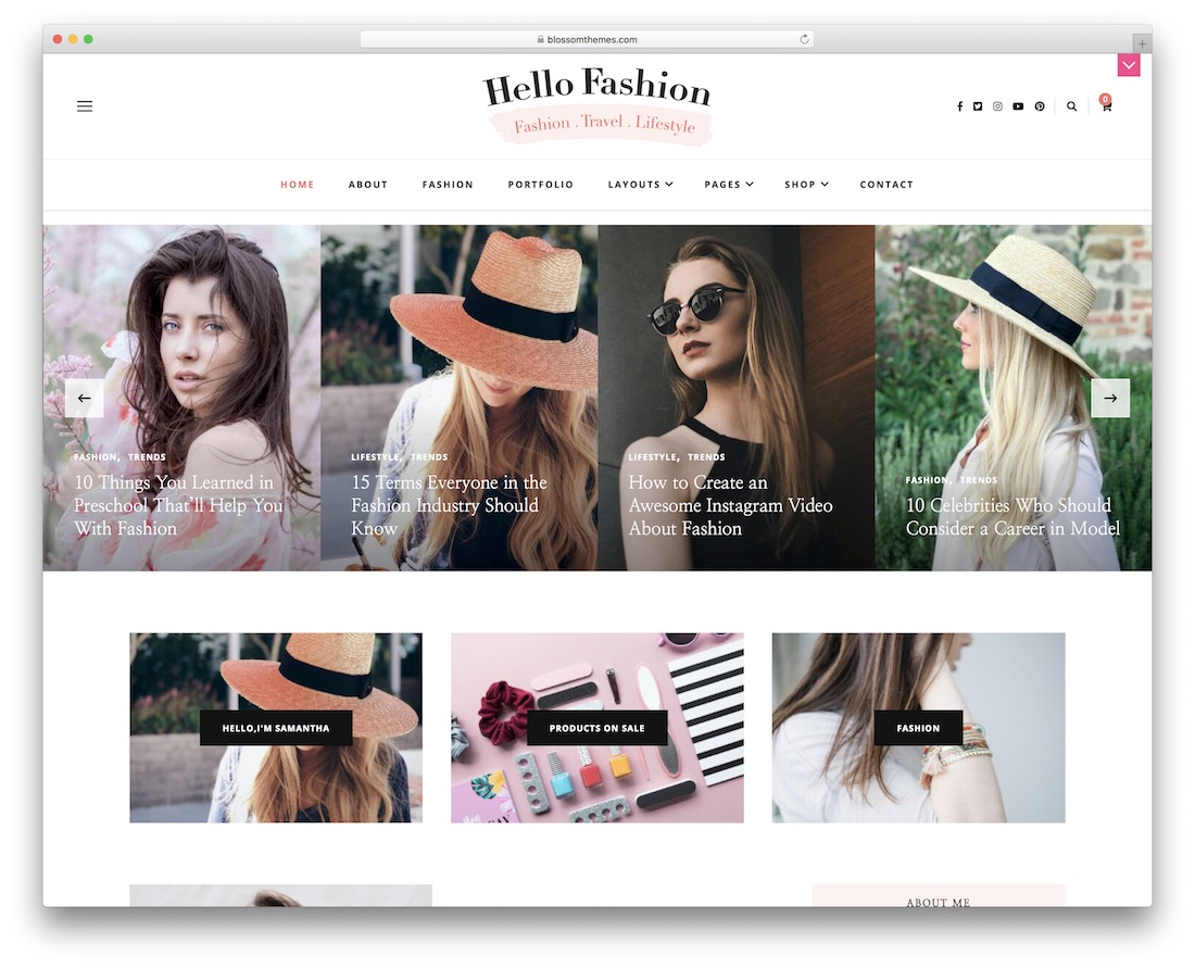 hello fashion free woocommerce wordpress theme