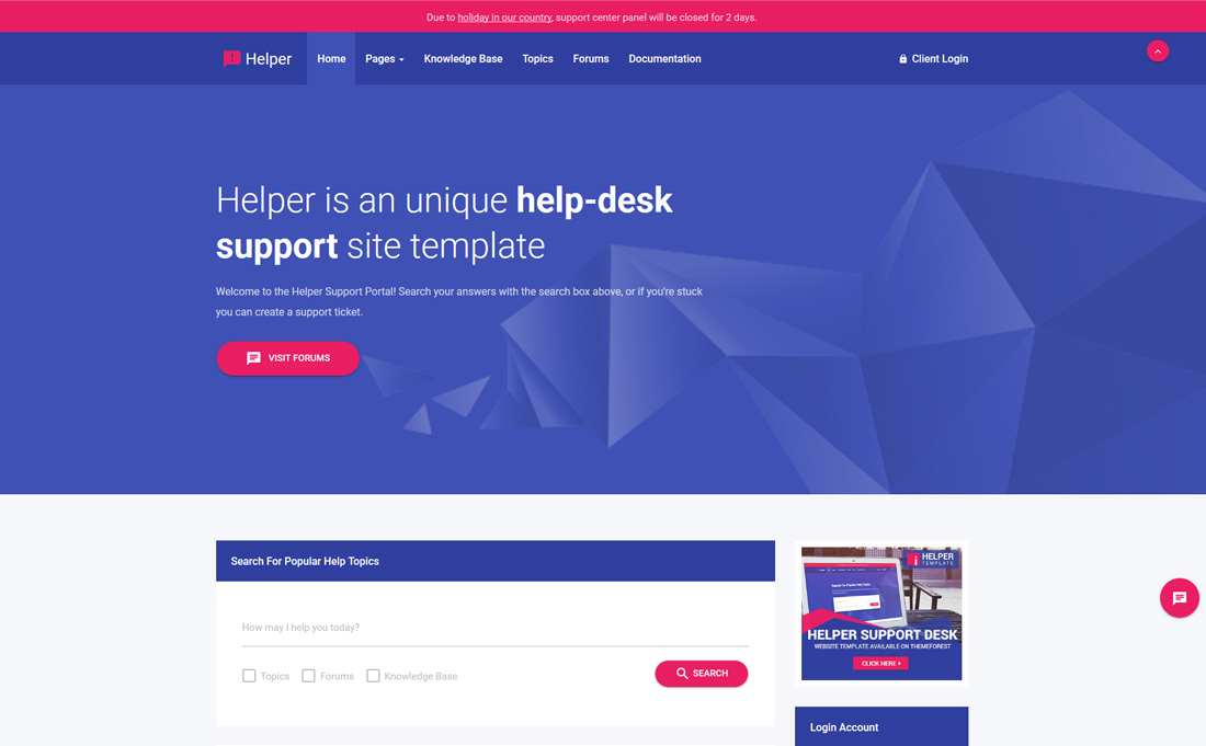 helper-bootstrap-forum-templates