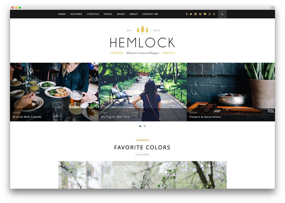 hemlock ingenious photography blog template