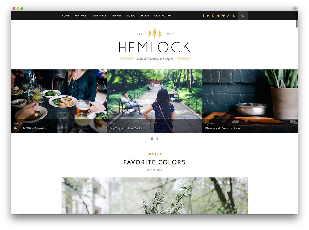 hemlock - food blog template