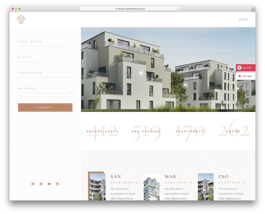 hendon single property wordpress theme