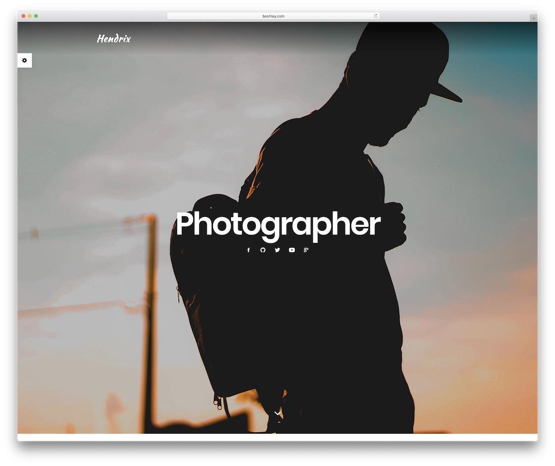 hendrix personal website template