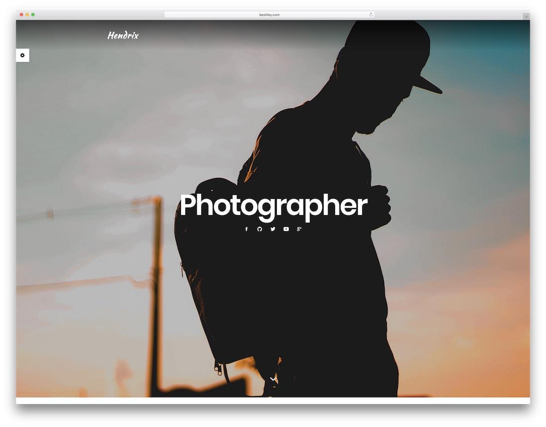 hendrix resume website template