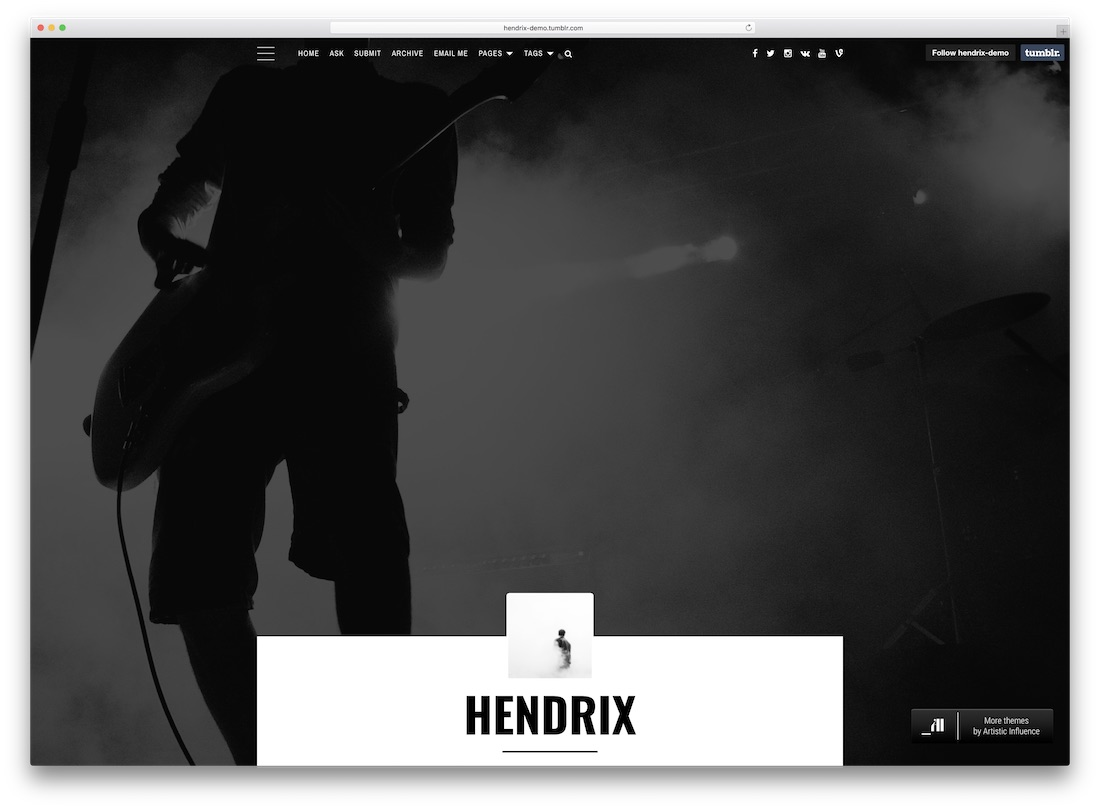 hendrix tumblr theme