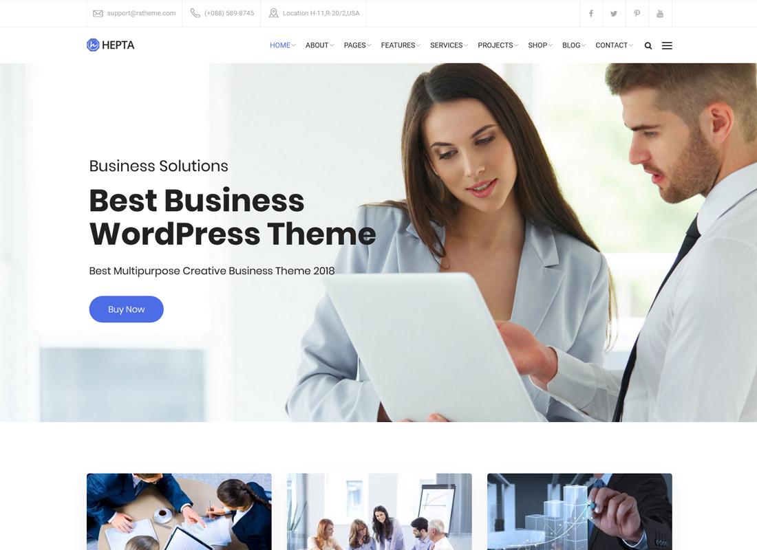 Hepta | Multipurpose Business WordPress Theme