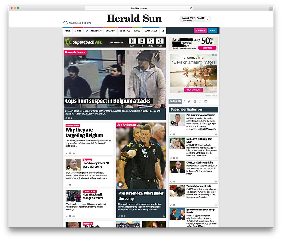 heraldsun-classic-magazine-site-example
