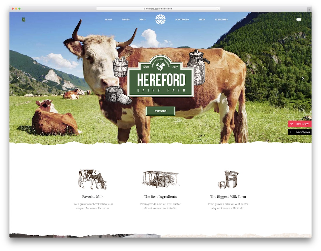 hereford farming wordpress theme