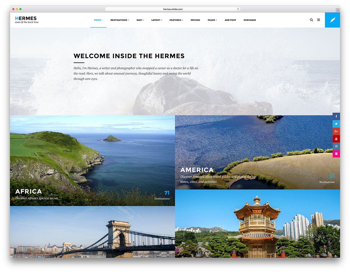 wordpress travel theme