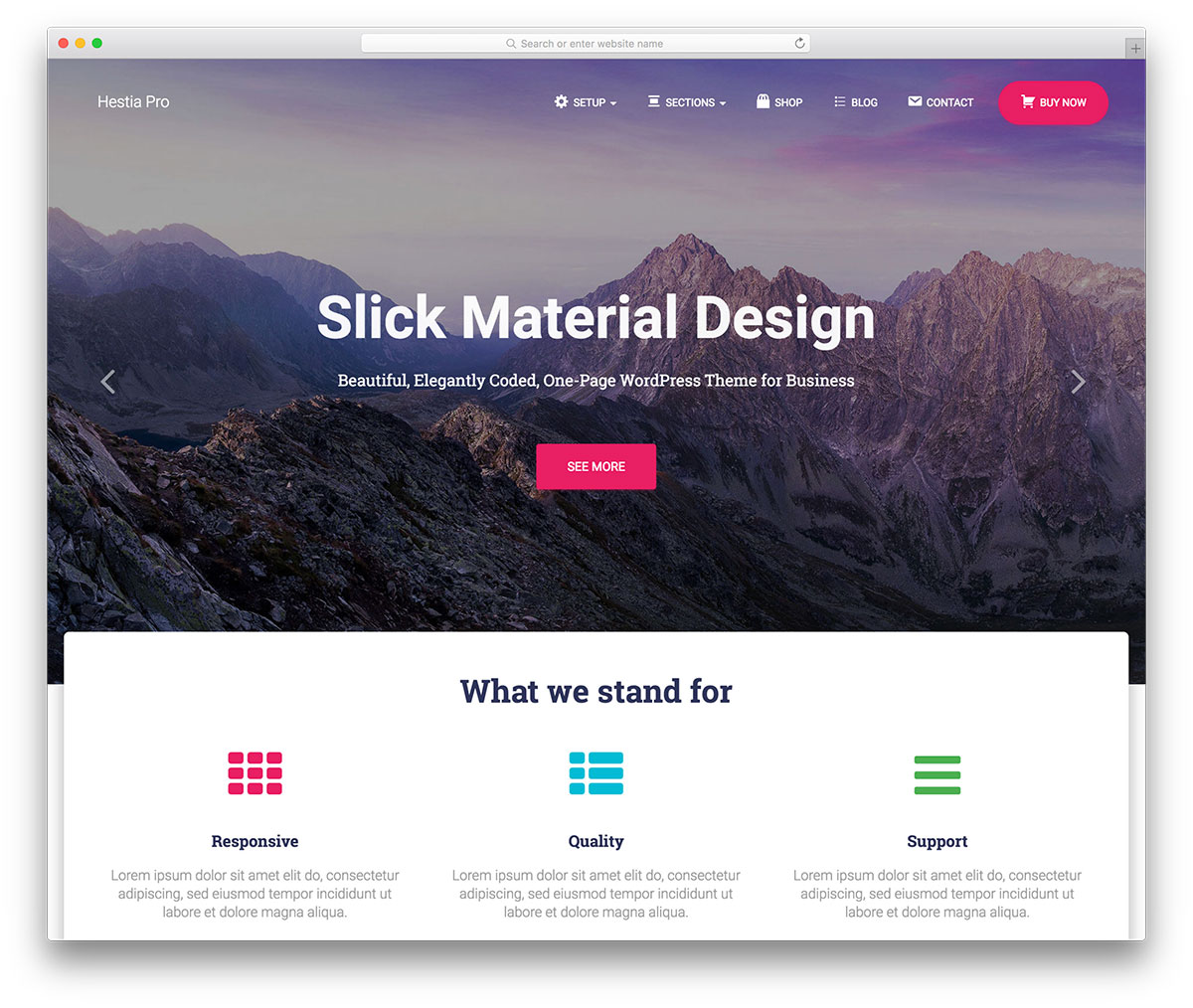 15 best wordpress material design themes 2018 colorlib for Wordpress theme with multiple page templates