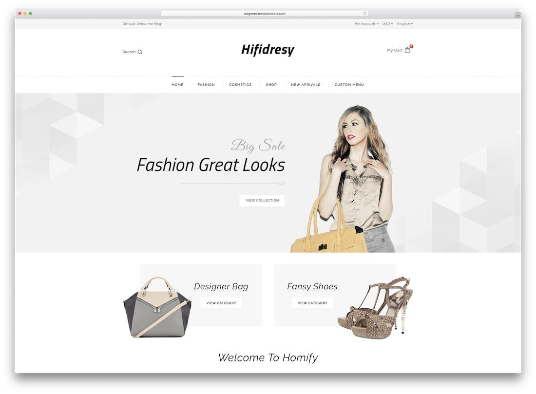 hifidresy magento fashion theme