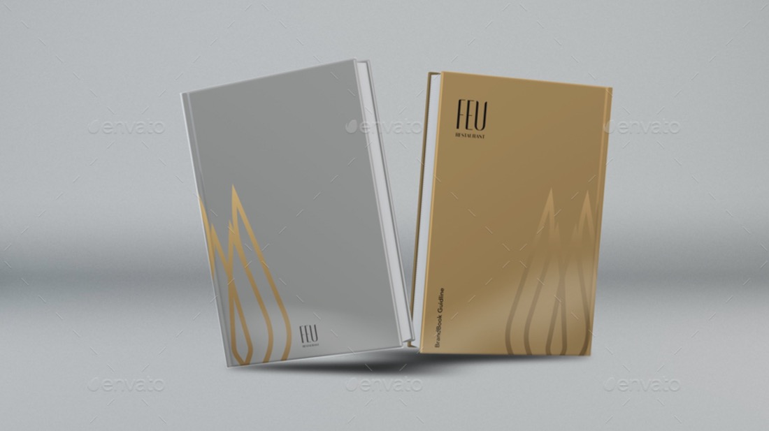 high quality hard cover book render