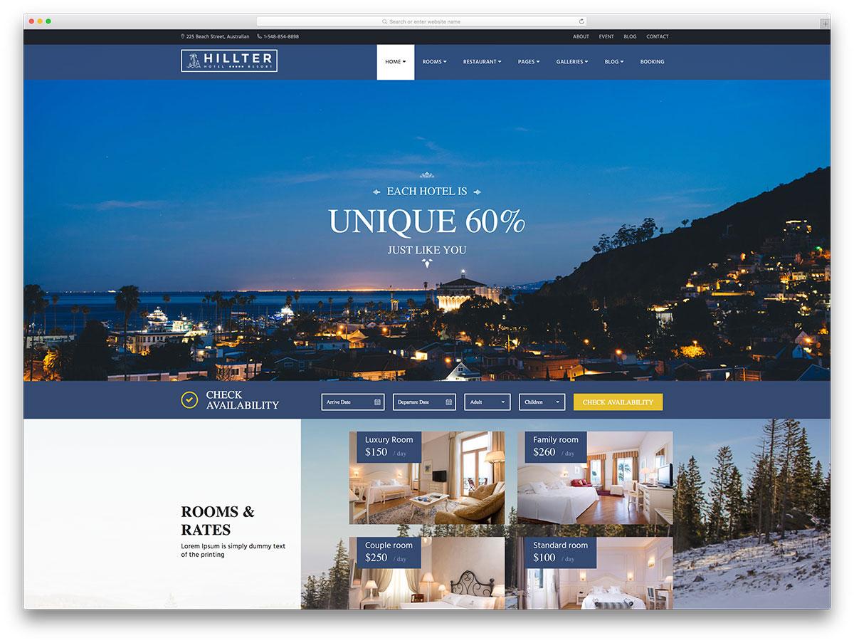 Hillter-Creative-Hotel-Website-Template