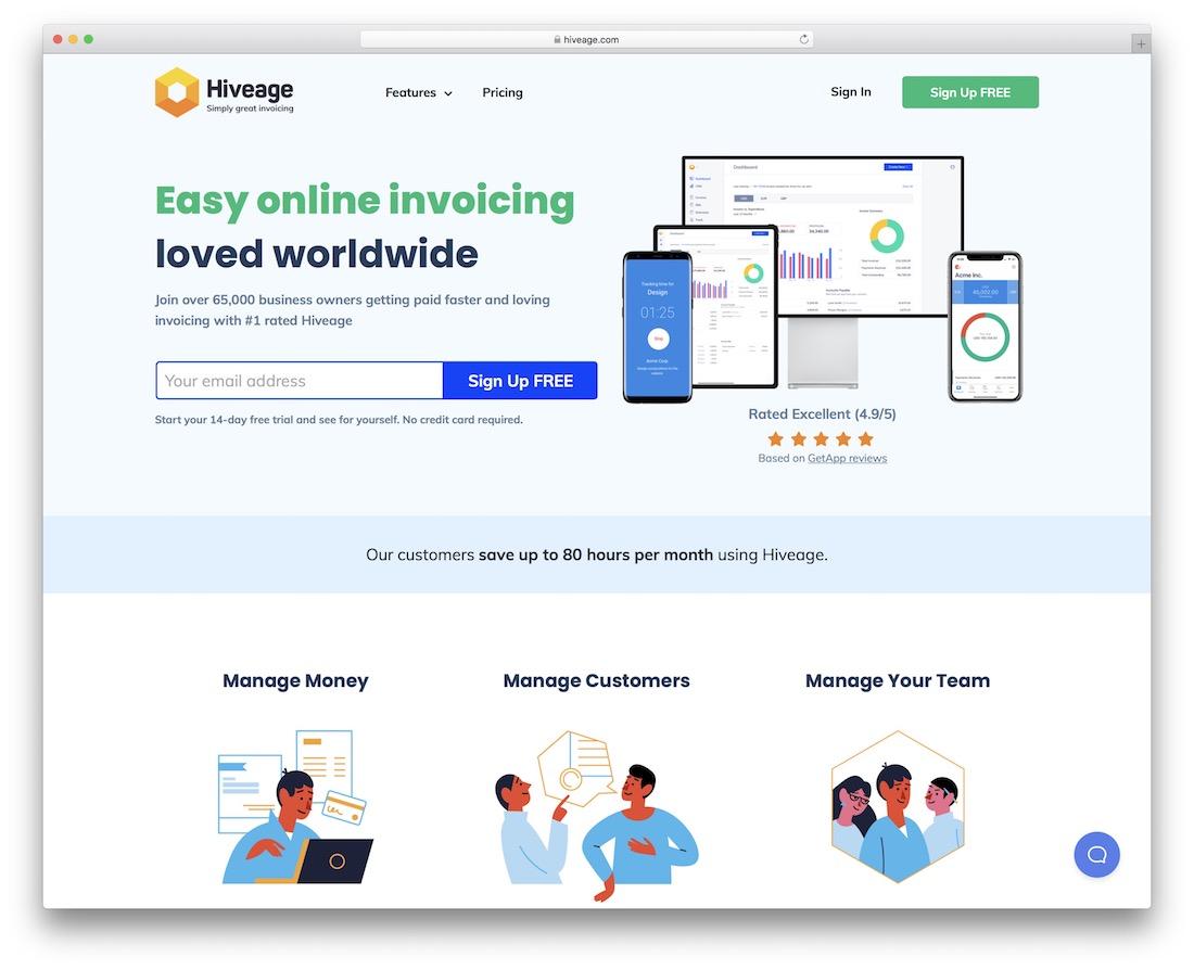 hiveage free invoicing tool