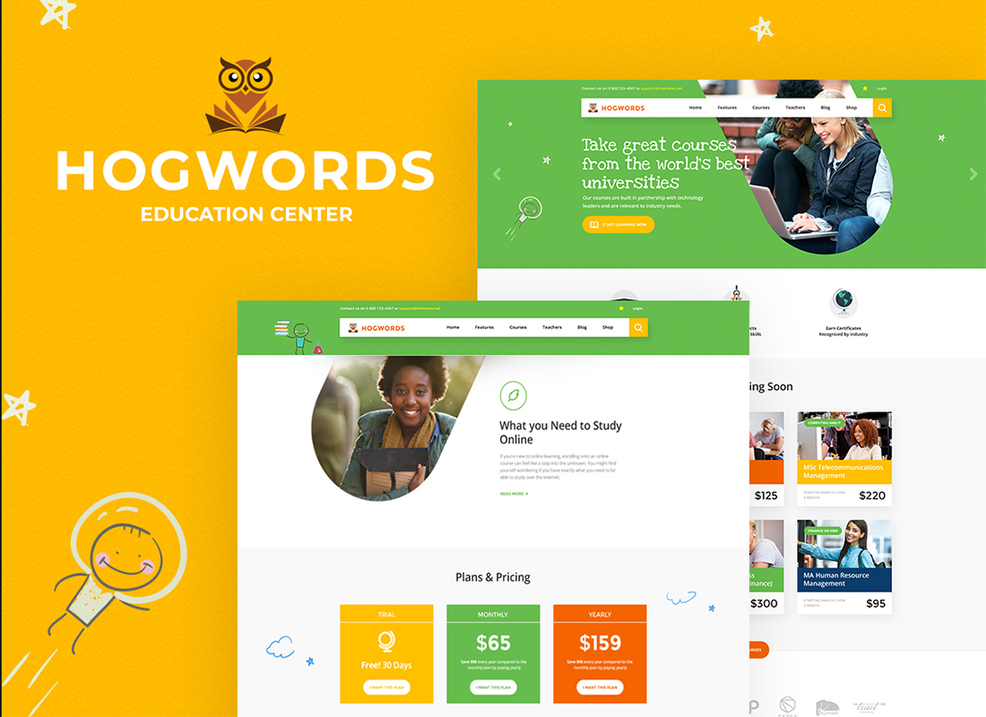 hogwords-education-center-wordpress-them