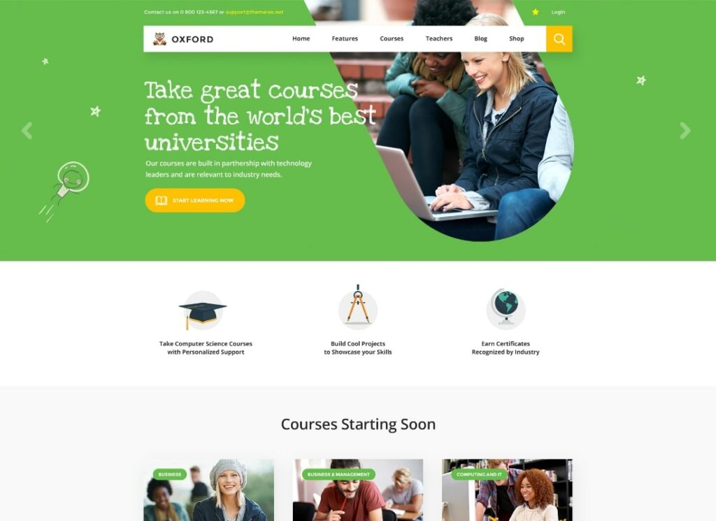 Hogwords   School, University & Education Center WordPress Theme