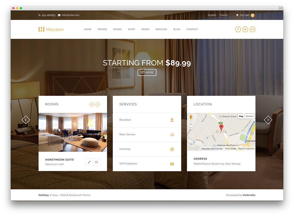 holiday - hotel booking template