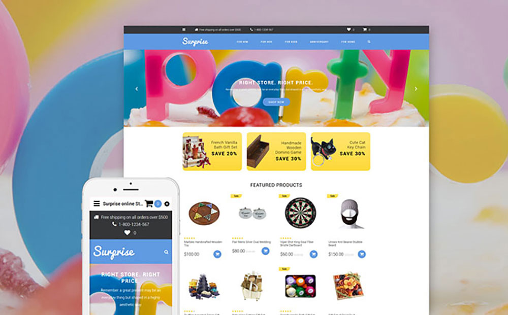 Gifts Shop OpenCart Template