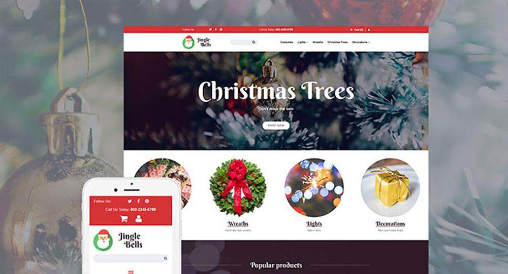 Christmas Responsive MotoCMS Ecommerce Template
