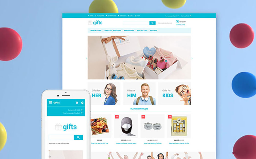 Gifts OpenCart Template