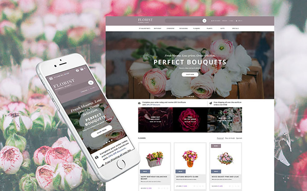Flower Shop OpenCart Template