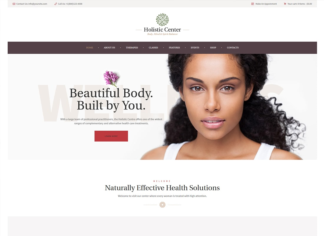 Holistic Center / Wellness and Spa WordPress Theme