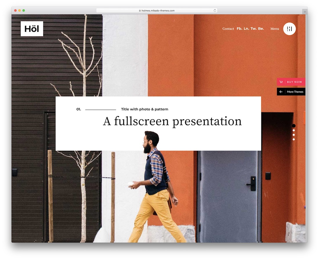 holmes creative agency wordpress theme