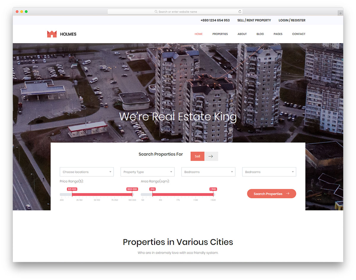 14 Best Free Real Estate Website Templates 2019 - Colorlib