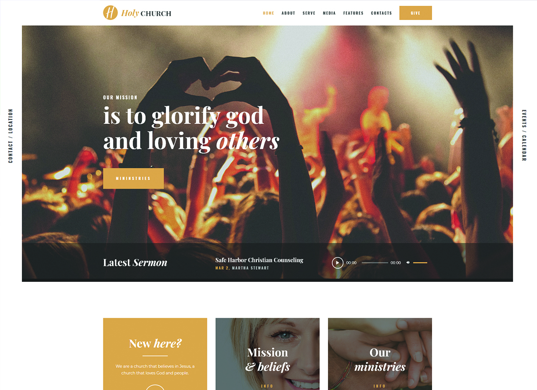 Holy Church - Religion & Nonprofit WordPress Theme