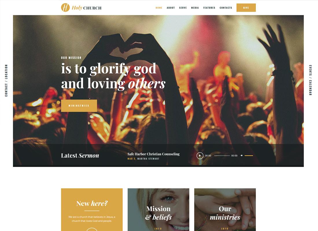Holy Church - Religion & Nonprofit WordPress Theme