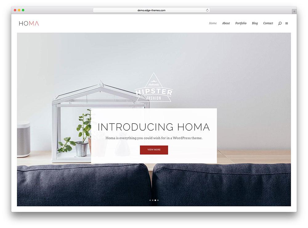 homa - minimalistic blog theme