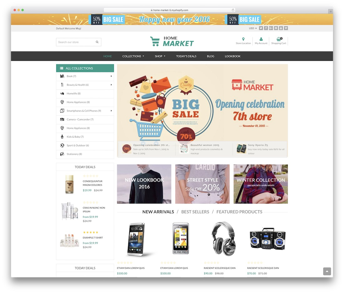 home market shopify technology theme