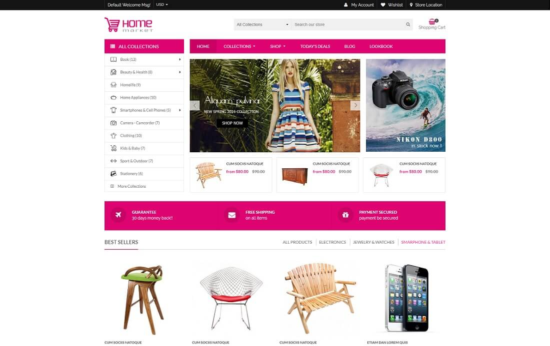 home market shopify technology theme