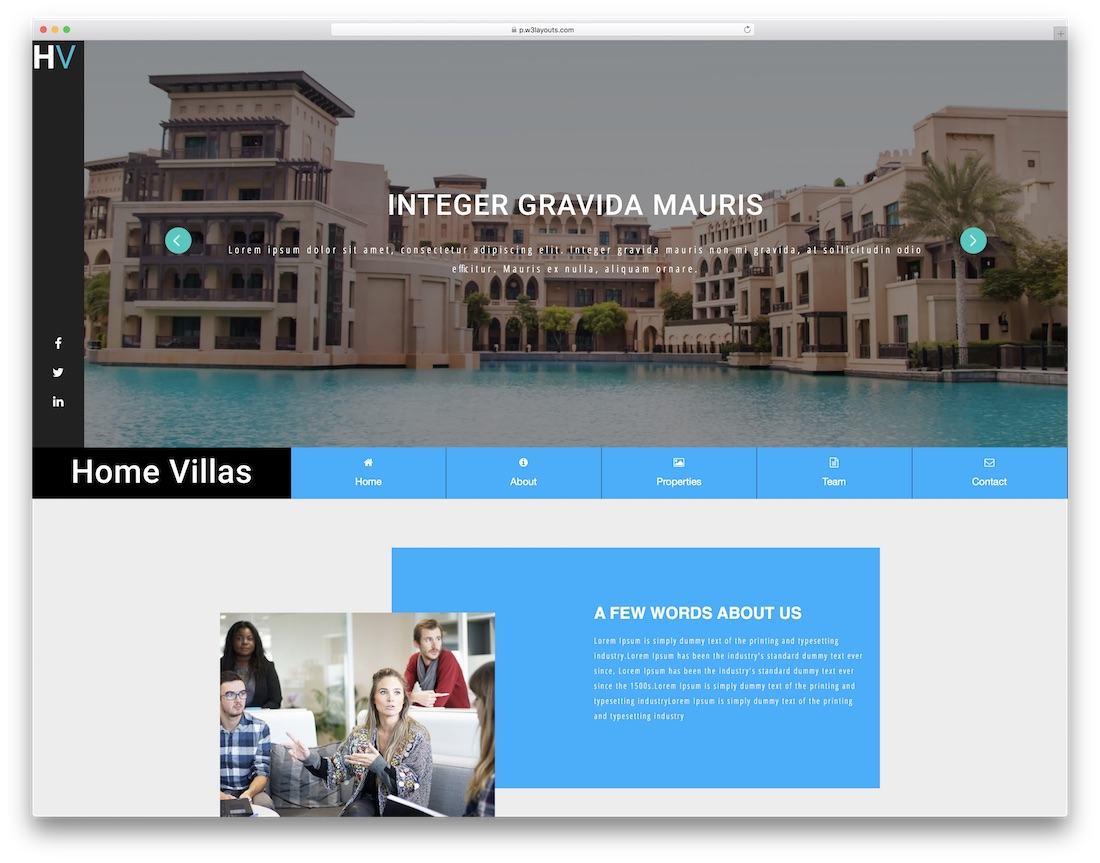 home villas website template