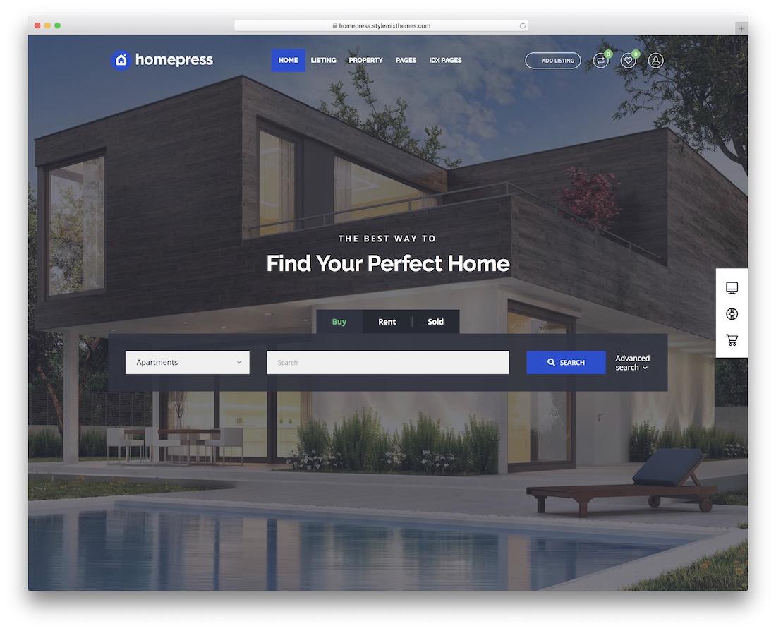 homepress best website template