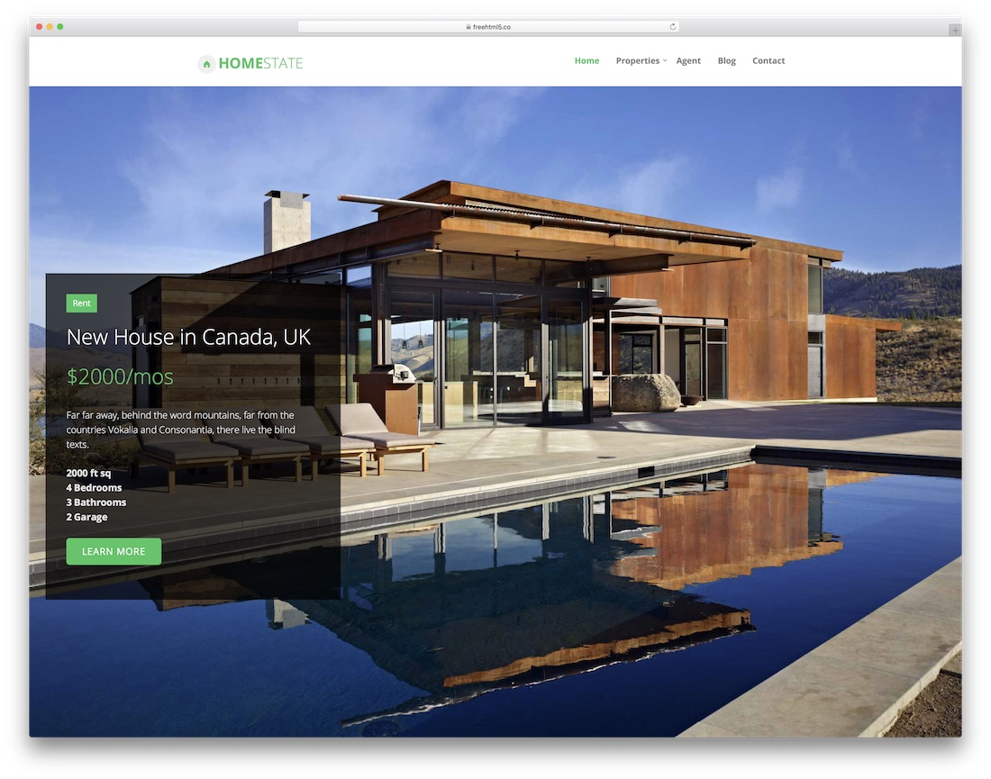 homestate free html5 website template