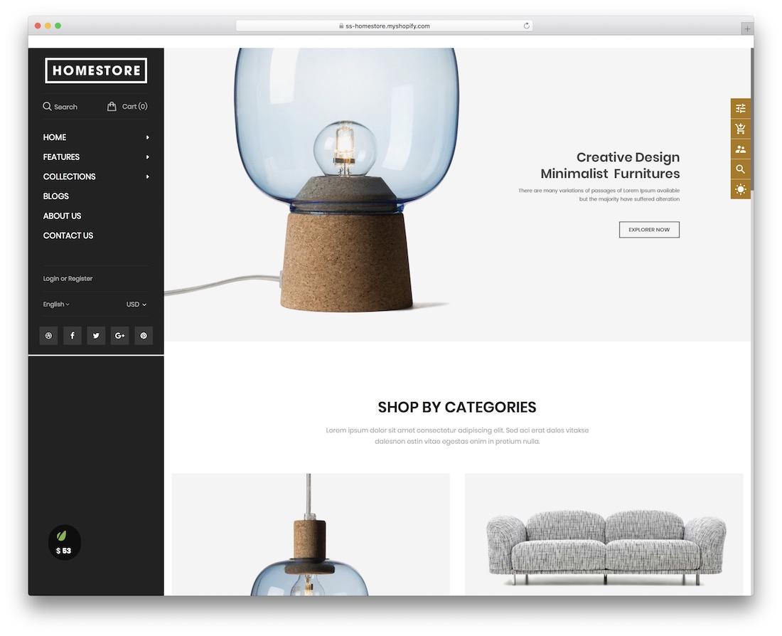homestore shopify real estate theme