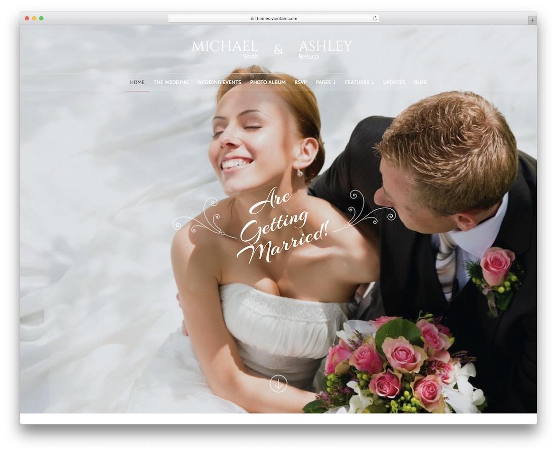honeymoon and wedding event planner wordpress theme