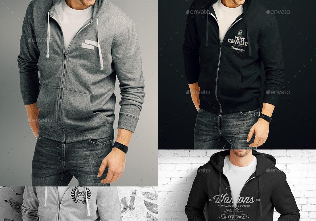hoodie pullover bundle mock-up