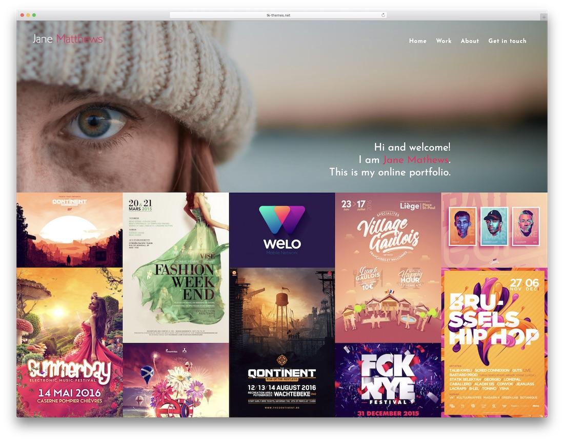 hook designer website template
