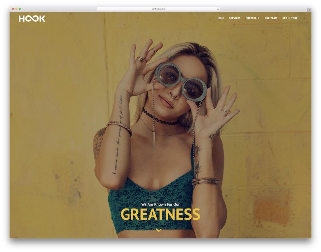 hook mobile friendly website template