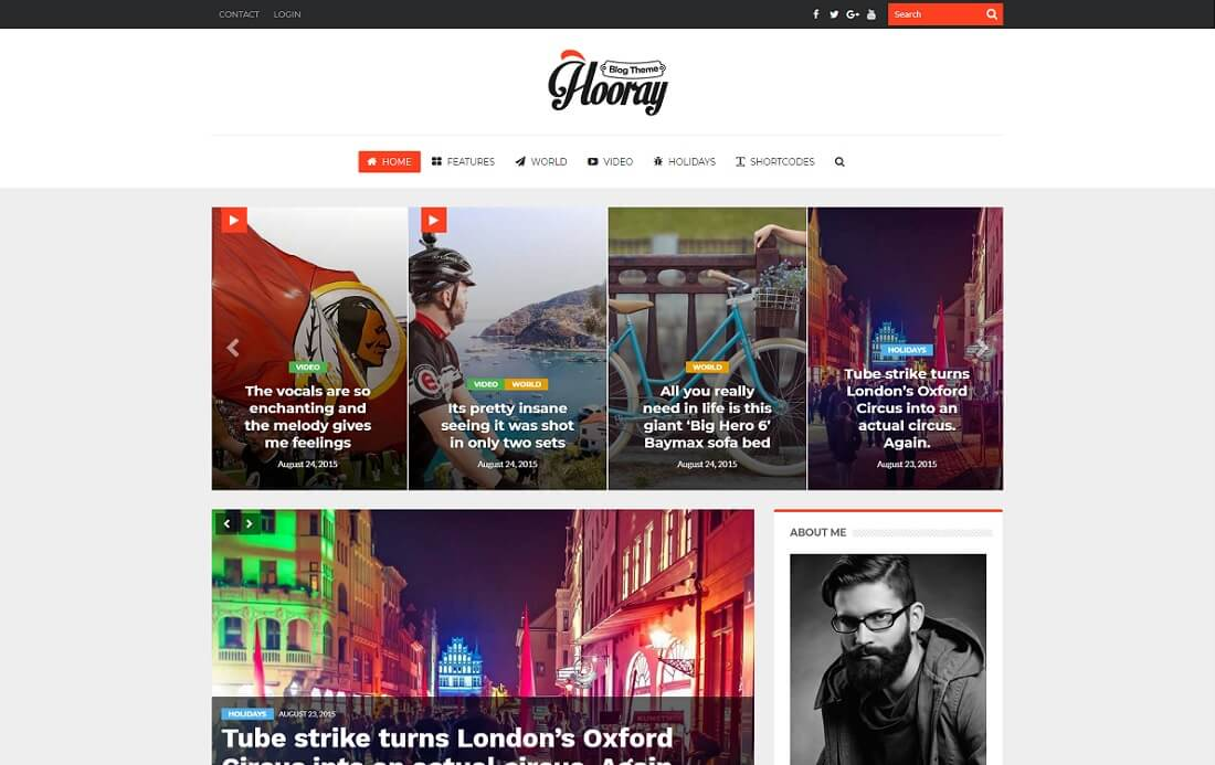 hooray wordpress instagram theme