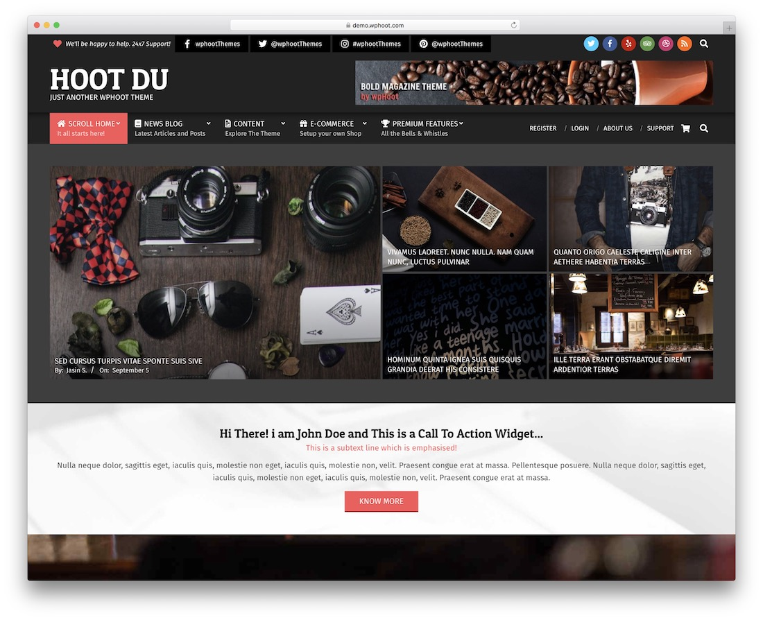 hoot du free wordpress gaming theme