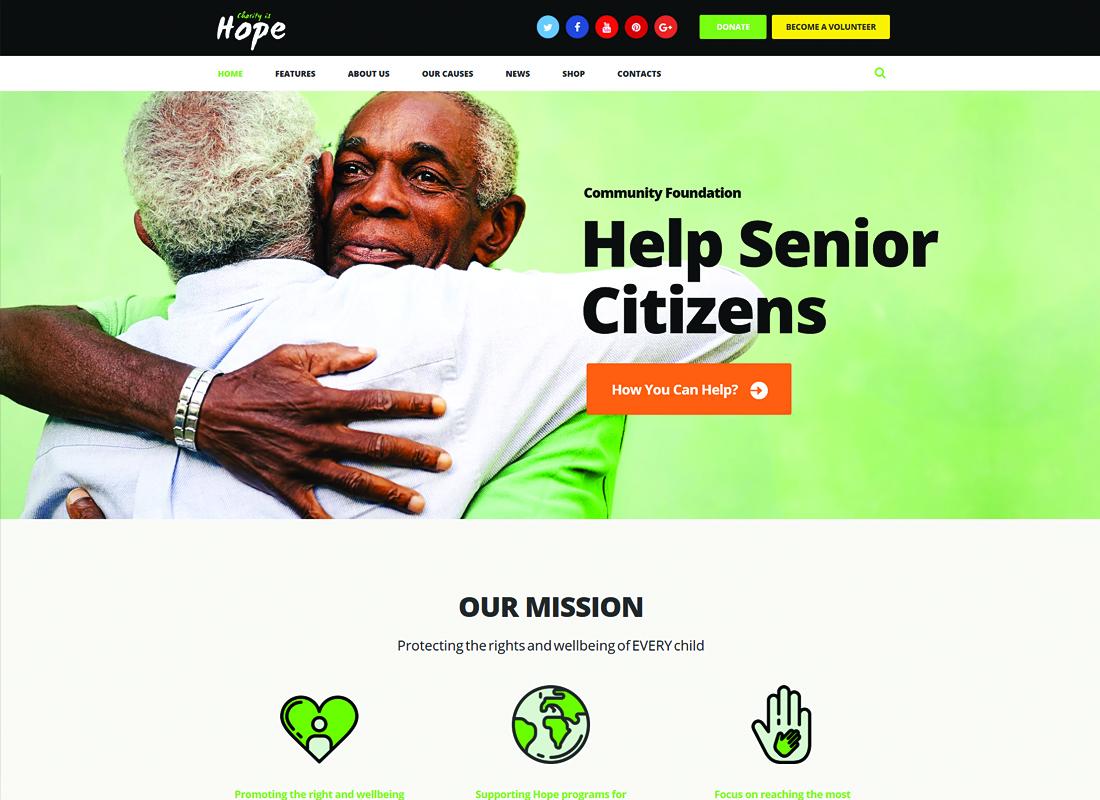 Hope - Non-Profit, Charity & Donations WordPress Theme + RTL