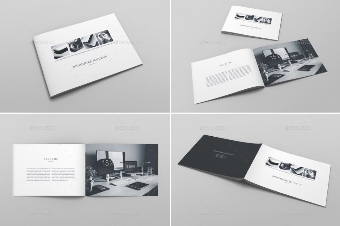 horizontal book mockup 3