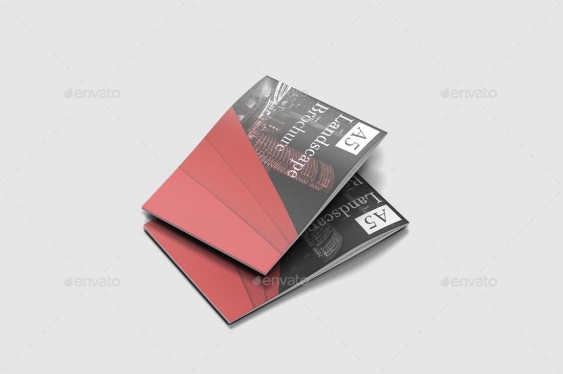 horizontal book mockup 4
