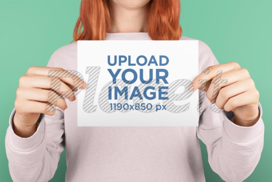 horizontal postcard mockup