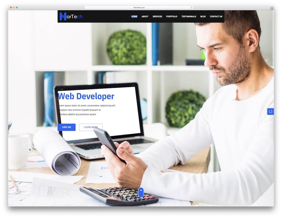 hortech cheap website template