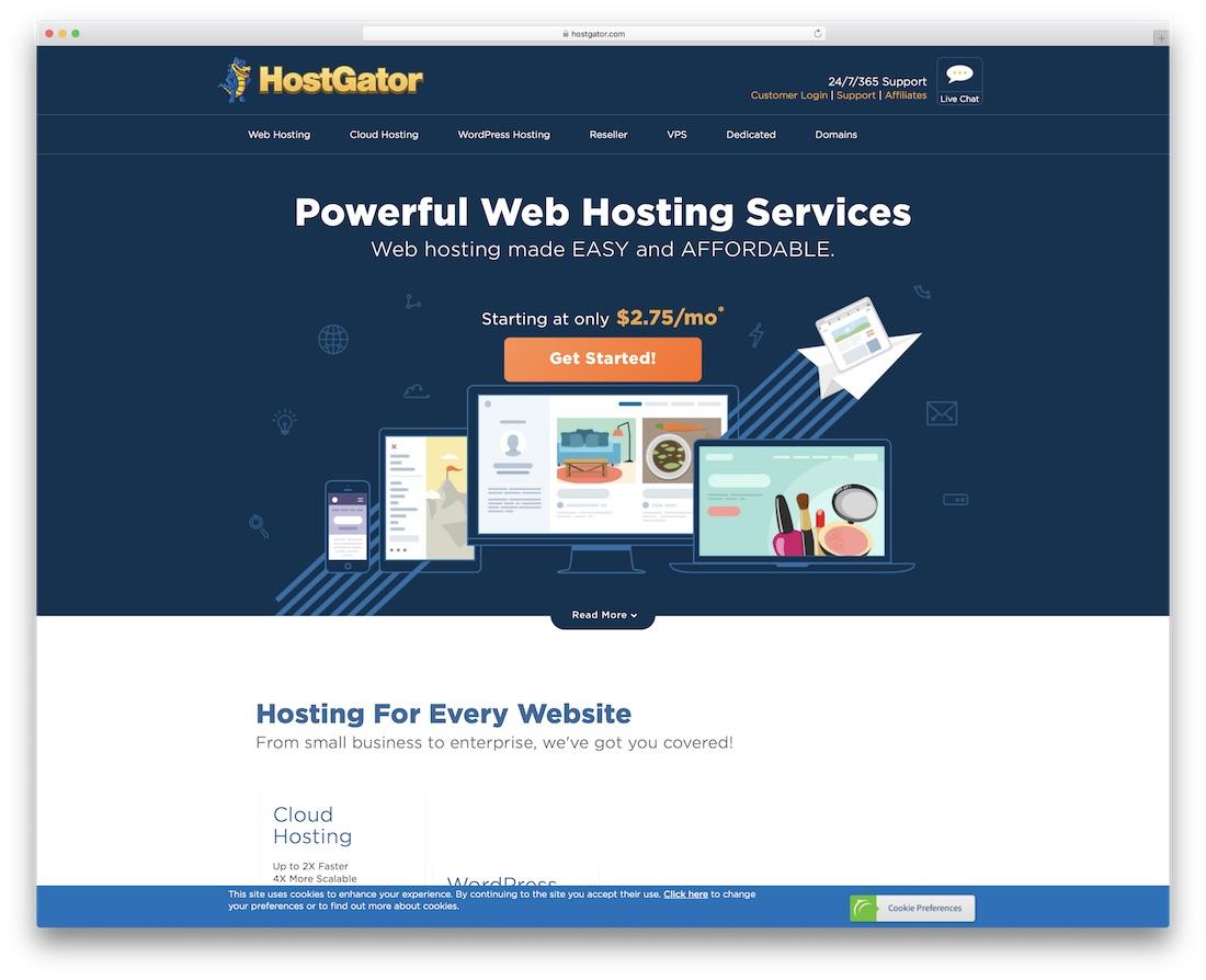 hostgator web hosting for personal website