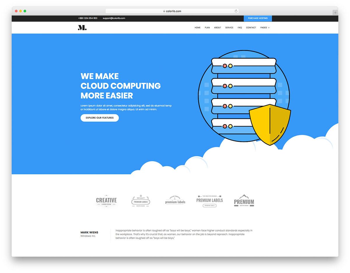 Скачать бесплатно html шаблон Hosting