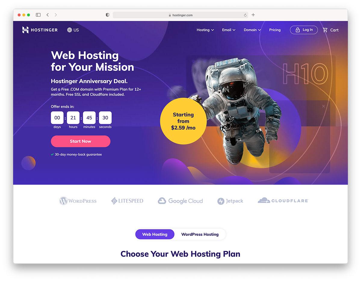 Hotinger dj wp hosting